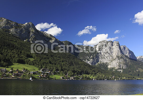 Austria mountains and lake - csp14722627