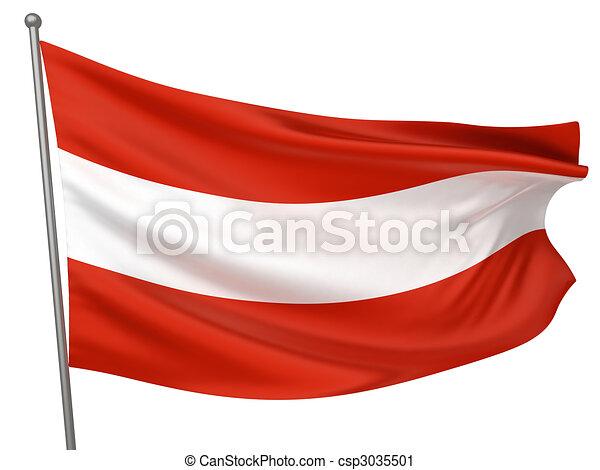 Austria National Flag - csp3035501