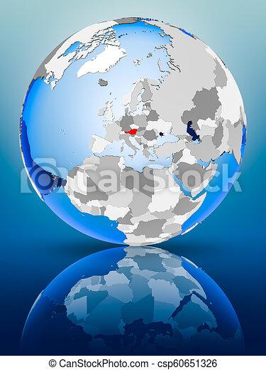 Austria on globe - csp60651326