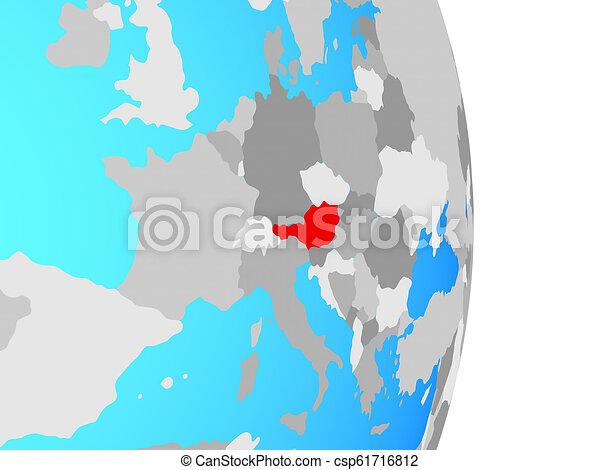 Austria on globe - csp61716812