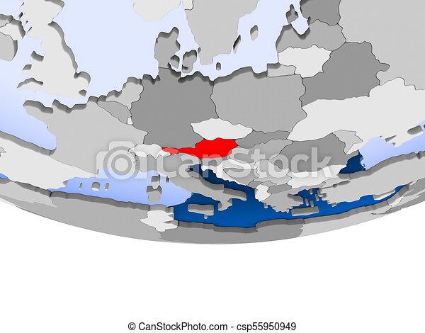 Austria on globe - csp55950949