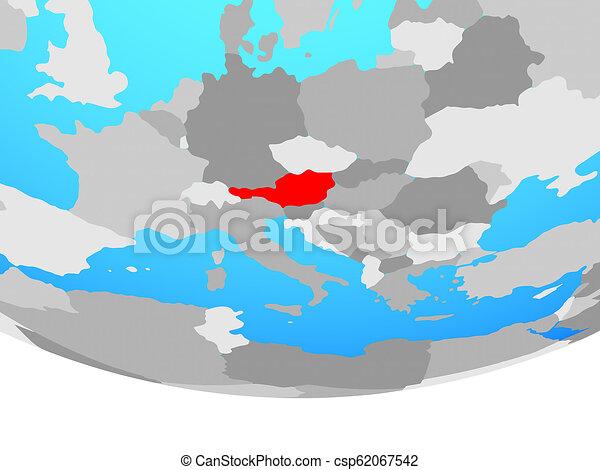 Austria on globe - csp62067542
