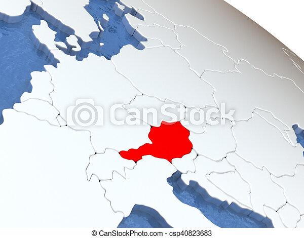 Austria on globe - csp40823683