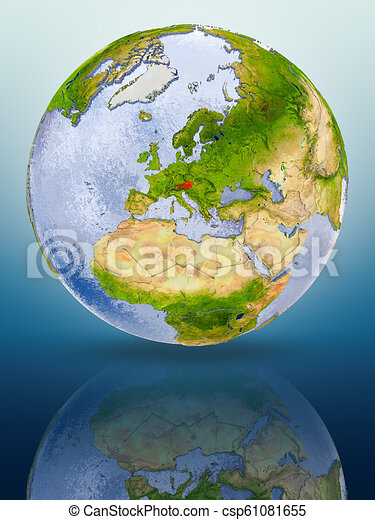 Austria on globe - csp61081655