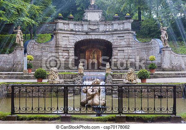 austria., palast, salzburg, hellbrunn - csp70178062