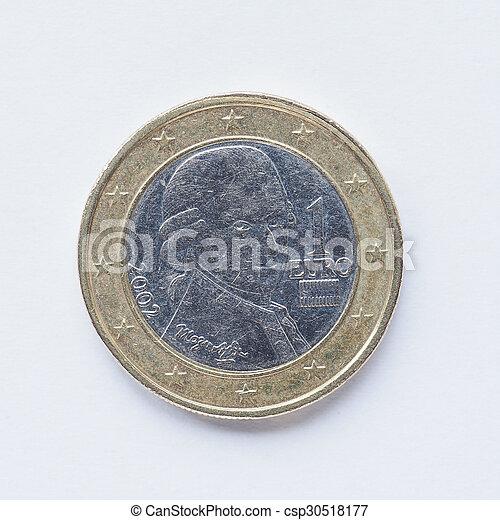 Austrian 1 Euro coin - csp30518177