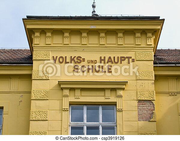 Austrian primary school and secondary school - csp3919126