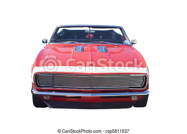 autó, átváltható, izom, piros - csp5811637