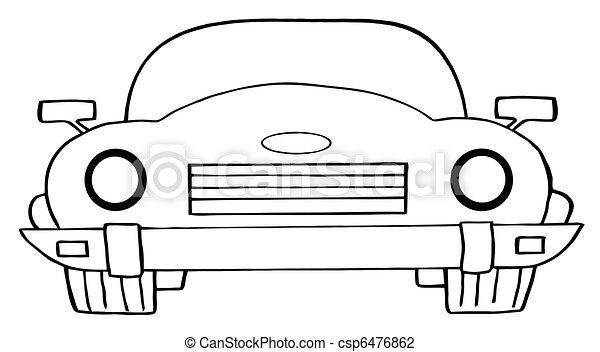 autó, átváltható, karikatúra - csp6476862