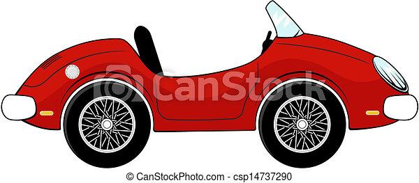 autó, átváltható, karikatúra - csp14737290