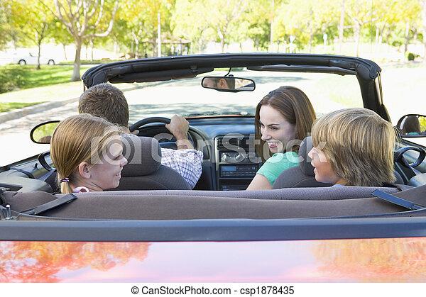 autó, átváltható, mosolygós, család - csp1878435