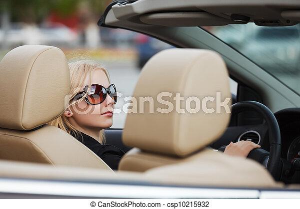 autó, átváltható, nő, fiatal - csp10215932