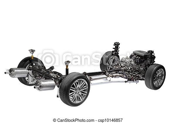 autó, alváz, engine. - csp10146857