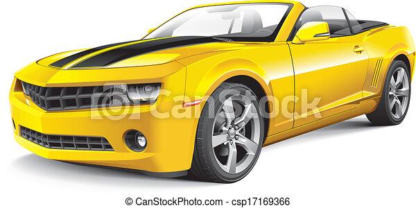 autó, amerikai, izom, átváltható - csp17169366