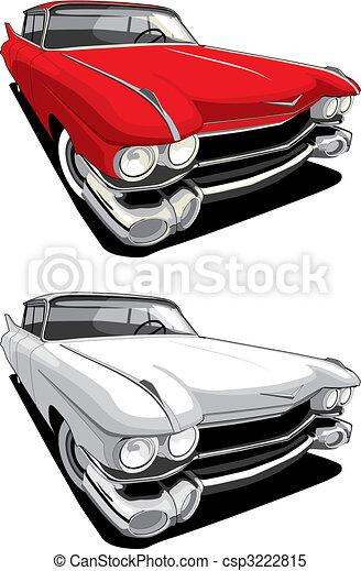 autó, amerikai, retro - csp3222815