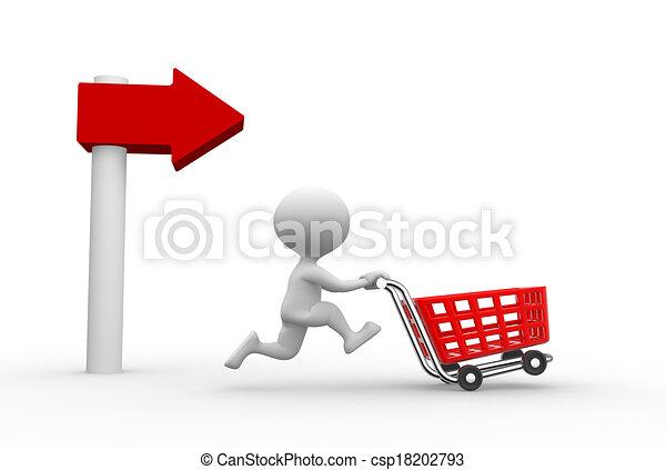 autó, bevásárlás - csp18202793