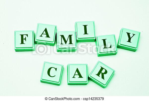 autó, család - csp14235379