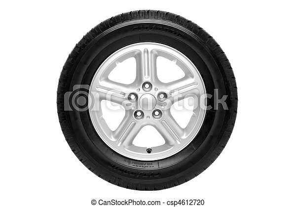 autó, darabka, elszigetelt, kerék, út - csp4612720