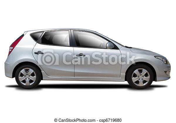 autó, ezüst - csp6719680