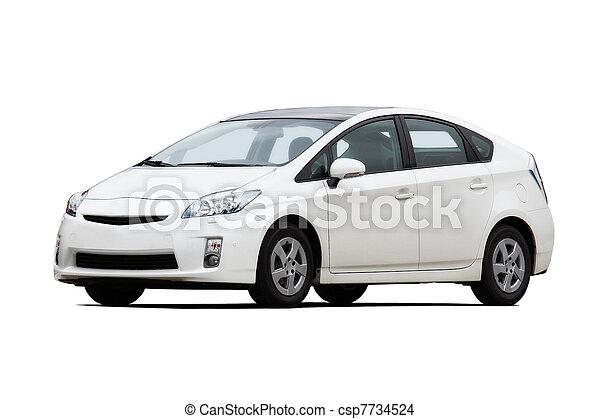 autó, fehér - csp7734524