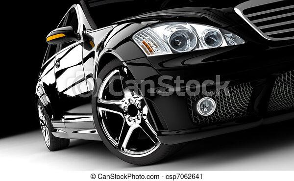 autó, fekete - csp7062641