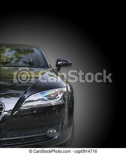 autó, fekete - csp0914716