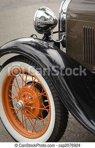 autó, formál, átgázol, restaurálás, klasszikus - csp2076924