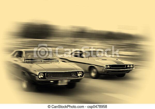 autó, izom, cirkálás - csp0478958