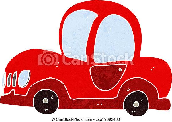 autó, karikatúra - csp19692460