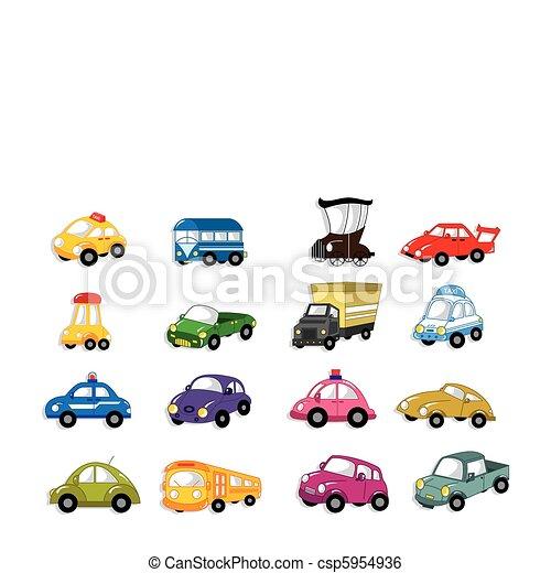autó, karikatúra - csp5954936