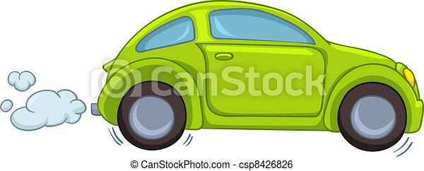 autó, karikatúra - csp8426826