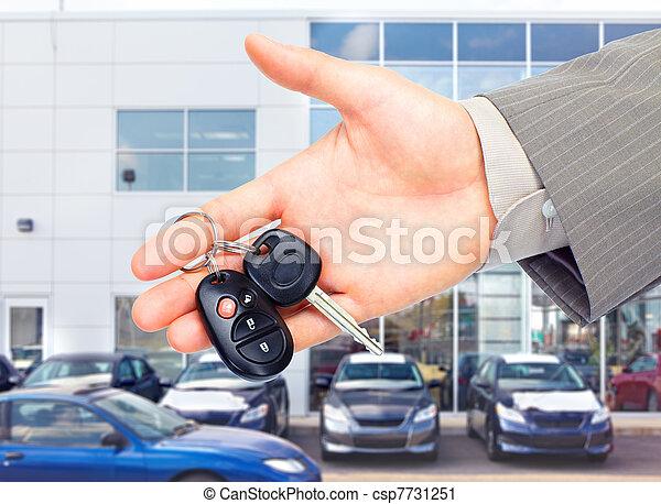 autó, key. - csp7731251