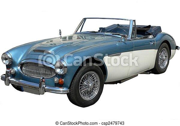 autó, klasszikus, brit, sport - csp2479743