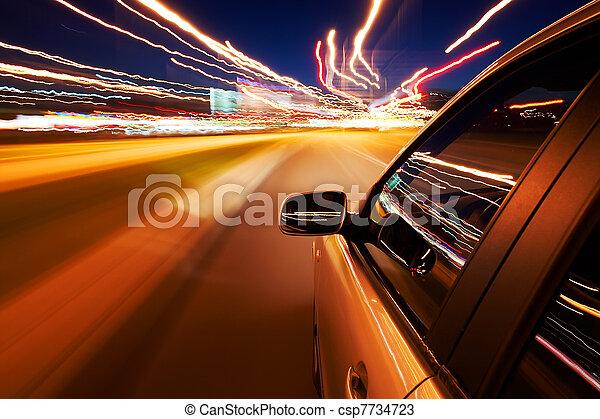 autó, kocsikázás gyorsan - csp7734723