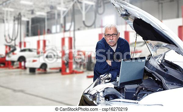 autó, mechanic. - csp16270219