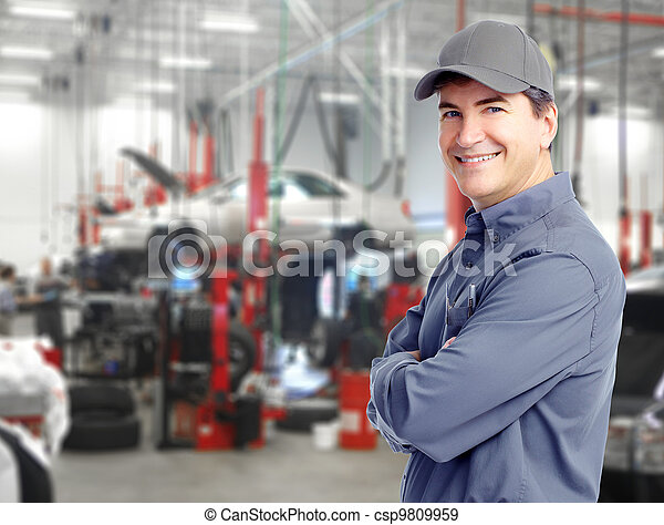 autó, mechanic. - csp9809959