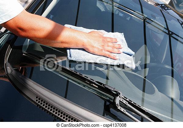 autó megmosakszik - csp4137008