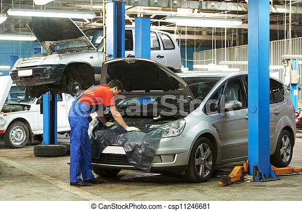 autó, munka, szerelő - csp11246681