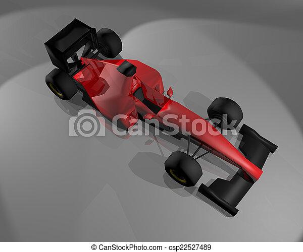 autó, piros - csp22527489