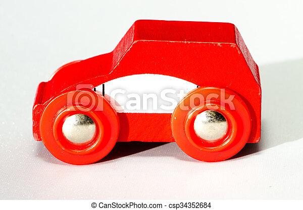 autó, piros - csp34352684