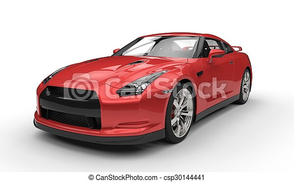 autó, piros, sport - csp30144441