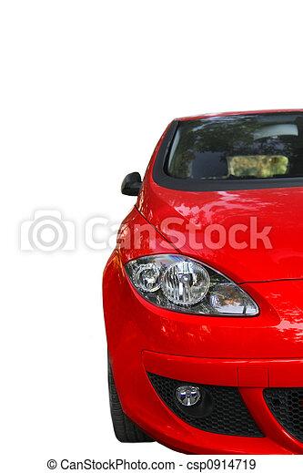 autó, piros - csp0914719