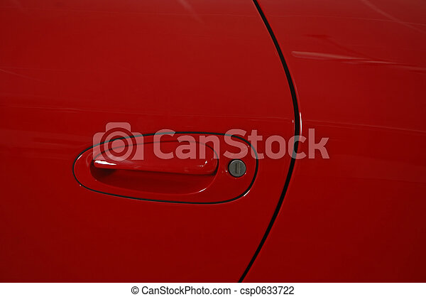 autó, piros - csp0633722