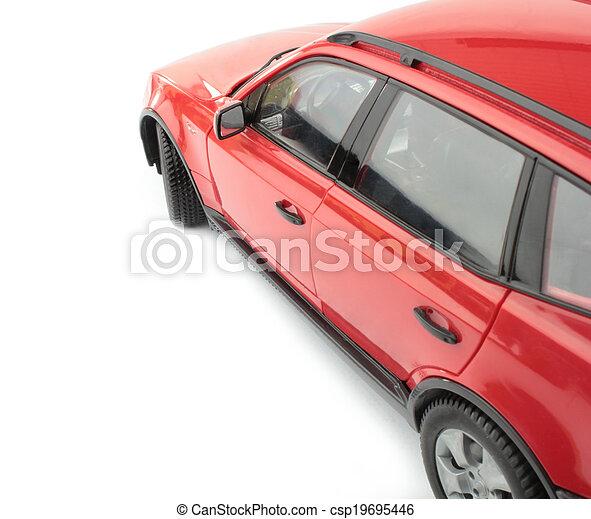 autó, piros - csp19695446