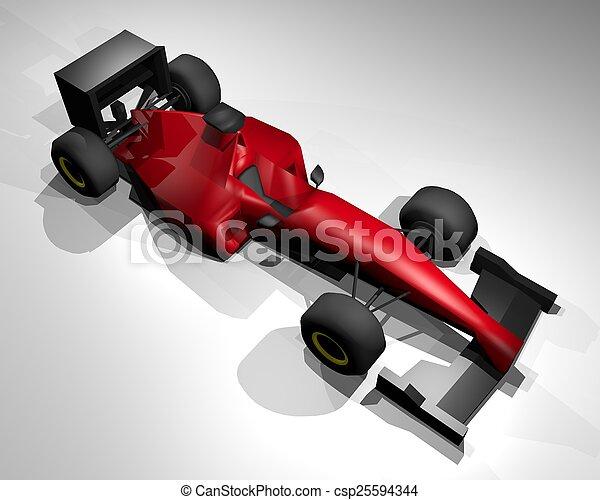 autó, piros - csp25594344