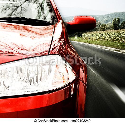 autó, piros - csp27108240