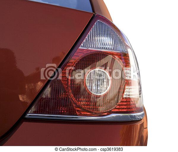 autó, piros - csp3619383