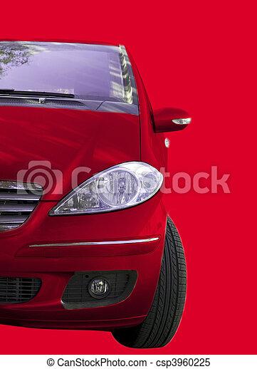 autó, piros - csp3960225