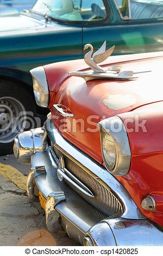 autó, részletez, klasszikus - csp1420825