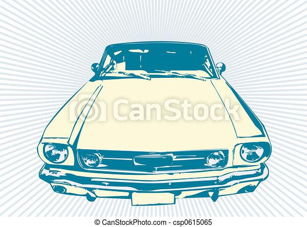 autó, retro - csp0615065